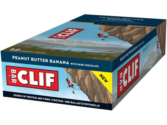 CLIF Bar Energy Riegel Box 12 x 68g Banane/Dunkle Schokolade